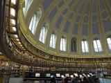 Reading Room, British Museum, London, England, United Kingdom Reproduction photographique par Charles Bowman