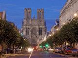 Cathedral of Notre Dame, Unesco World Heritage Site, Reims, Haute Marne, France Reproduction photographique par Charles Bowman