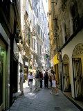 Via San Luca, in Old City of Genoa (Genova), Liguria, Italy Photographic Print by Richard Ashworth