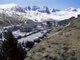 Ski Resort on French Border, Pas De La Casa, Andorra, Pyrenees Photographic Print by Jeremy Bright
