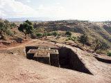 Bet Giorgis Church, Lalibela, Unesco World Heritage Site, Ethiopia, Africa Fotografisk tryk af Julia Bayne