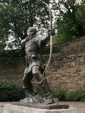Statue of Robin Hood, Nottingham, Nottinghamshire, England, United Kingdom Fotografisk trykk av Charles Bowman