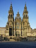 The Cathedral, Santiago De Compostela, Unesco World Heritage Site, Galicia, Spain Reproduction photographique par Michael Busselle