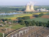 Nuclear Power Station of Saint Laurent-Des-Eaux, Pays De Loire, Loire Valley, France Reproduction photographique par Bruno Barbier