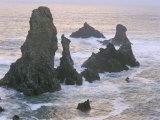 Les Aiguilles De Port Coton, Belle Ile En Mer, Breton Islands, Morbihan, Brittany, France Valokuvavedos tekijänä Bruno Barbier