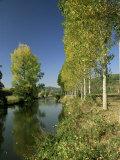 River Sarthe, Near Le Mans, Sarthe, Western Loire, Pays De La Loire, France Reproduction photographique par Michael Busselle