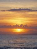 Sunset Over Sea, Costa Del Sol, Andalucia (Andalusia), Spain, Mediterranean Reproduction photographique par Michael Busselle