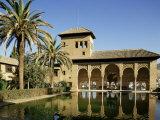 Gardens of the Partal, Alhambra, Unesco World Heritage Site, Granada, Andalucia, Spain Reproduction photographique par Michael Busselle