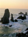 Les Aiguilles De Port Coton, Belle Ile En Mer, Breton Islands, Morbihan, Brittany, France Reproduction photographique par Bruno Barbier