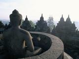 Arupadhatu Buddha, 8th Century Buddhist Site of Borobudur, Unesco World Heritage Site, Indonesia Reproduction photographique par Bruno Barbier
