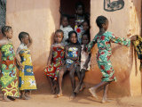 Agboli-Agbo Dedjlani, Abomey, Benin (Dahomey), Africa Lámina fotográfica por Bruno Barbier