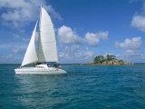 Catamaran, Island of Praslin, Seychelles, Indian Ocean, Africa Reproduction photographique par Bruno Barbier