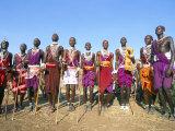 Alamal, Ritual Festival, Maasai Village (Manyatta), Rift Valley, Southeast Kenya Reproduction photographique par Bruno Barbier