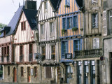 Timbered Houses, Town of Vannes, Gulf of Morbihan, Brittany, France Reproduction photographique par Bruno Barbier