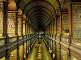 Gallery of the Old Library, Trinity College, Dublin, County Dublin, Eire (Ireland) Lámina fotográfica por Bruno Barbier