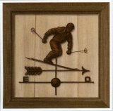 Girouette Skieur Kunst von Thierry Verger