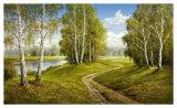 Romantic Pathway Plakat af Helmut Glassl