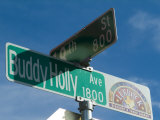 Buddy Holly Avenue, Lubbock, Texas, USA Fotografisk tryk af Ethel Davies