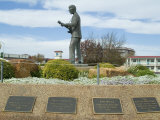 Buddy Holly, Walk of Fame, Lubbock, Texas, USA Fotografisk tryk af Ethel Davies
