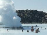 Blue Lagoon (Mineral Baths), Near Keflavik, Iceland, Polar Regions Fotografisk trykk av Ethel Davies