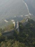 The Great Wall at Mutianyu, Unesco World Heritage Site, Near Beijing, China Impressão fotográfica por Angelo Cavalli