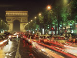 Avenue Des Champs Elysees and the Arc De Triomphe, Paris, France Photographic Print by Alain Evrard