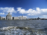 Liverpool and the River Mersey, Merseyside, England, United Kingdom Photographic Print by Chris Nicholson