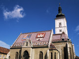 St. Mark's Church, Zagreb, Croatia Photographic Print by Ken Gillham