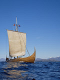 Gaia, Replica Viking Ship, Norway, Scandinavia Stampa fotografica di David Lomax