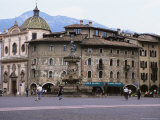 Case Cazuffi-Rella, in Piazza Duomo, Trento, Trentino, Italy Photographic Print by Michael Newton