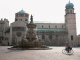 Piazza Duomo, with the Statue of Neptune, Trento, Trentino, Italy Photographic Print by Michael Newton