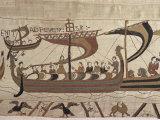 Invasion Fleet, Bayeux Tapestry, France Impressão fotográfica por Walter Rawlings