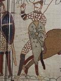 Death of King Harold, Bayeux Tapestry, 69, Normandy, France Impressão fotográfica por Walter Rawlings