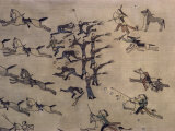 Battle of the Little Big Horn, by White Bird, a Northern Cheyenne, Horseshoes Impressão fotográfica por Walter Rawlings