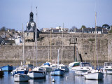 Harbour and Old Walled Town, Concarneau, Finistere, Brittany, France Photographic Print by David Hughes