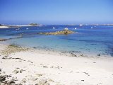 Port-Blanc, Cote De Granit Rose, Cotes d'Amor, Brittany, France Photographic Print by David Hughes