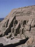 Temple of Re-Herakte Built for Ramses II, Abu Simbel, Unesco World Heritage Site, Nubia, Egypt Photographic Print by G Richardson