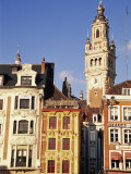 Flemish Houses and Belfry of the Nouvelle Bourse, Grand Place, Lille, Nord, France Photographic Print by David Hughes