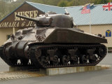 American Sherman Tank, Omaha Beach Museum, Normandy, France Photographic Print by David Hughes