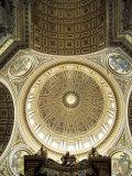 Interior of the Dome, St. Peter's Basilica, Vatican, Rome, Lazio, Italy Impressão fotográfica por G Richardson
