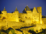 La Cite, Medieval Fortified Town, Carcassone, Aude, Languedoc-Roussillon, France Photographic Print by David Hughes