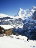 View Towards the Eiger, Murren, Swiss Alps, Switzerland Photographic Print by G Richardson