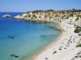 Beach, Cala d'Hort, Ibiza, Balearic Islands, Spain, Mediterranean Impressão fotográfica por Hans Peter Merten