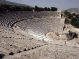 Restored Theatre, Epidaurus, Unesco World Heritage Site, Greece Lámina fotográfica por Jack Jackson