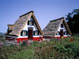 Traditional Houses at Santana, Madeira, Portugal Impressão fotográfica por Hans Peter Merten