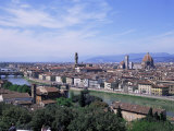 View of City from Piazzale Michelangelo, Florence, Tuscany, Italy Impressão fotográfica por Hans Peter Merten