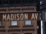 Madison Avenue Street Sign, Manhattan, New York City, New York, USA Photographic Print by Amanda Hall