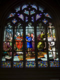 15th Century Stained Glass Window in the Cathedrale St-Corentin, Southern Finistere, France Photographic Print by Amanda Hall