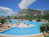 Hotel Torviscas Playa, Playa De Las Americas, Tenerife, Canary Islands, Spain Impressão fotográfica por Hans Peter Merten