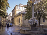 Fountain of the Four Dolphins, Aix-En-Provence, Bouches-Du-Rhone, Provence, France Photographic Print by John Miller